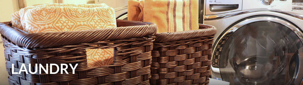 Wicker Laundry Baskets & Hampers