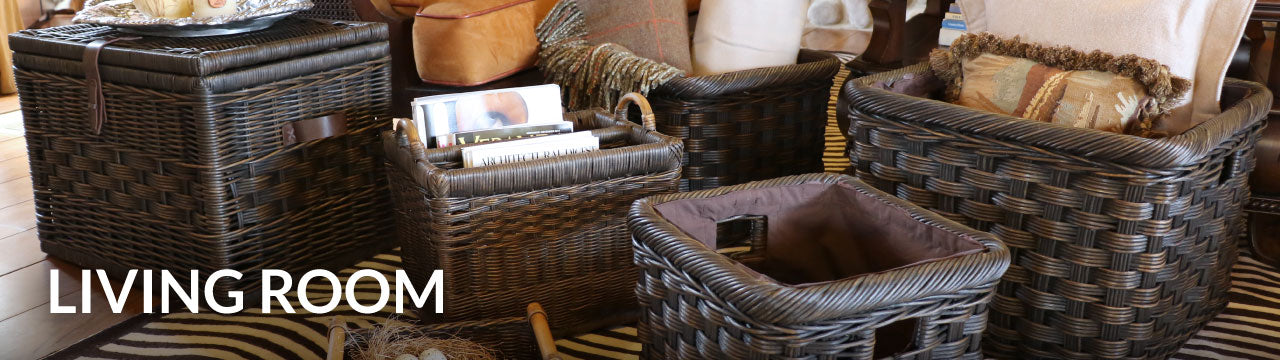 Baskets for Living Room Storage, Organization & Decoration