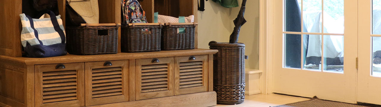 Mudroom & Entryway Wicker Storage Baskets