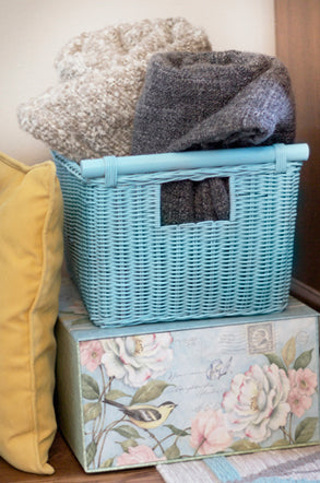 Paint our Pole Handle Storage Basket any color you want to match your space