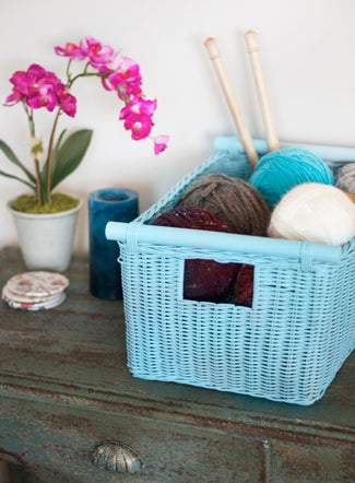 Customize our Pole Handle Storage Basket to match any decor