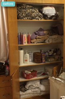 Linen Closet before makeover