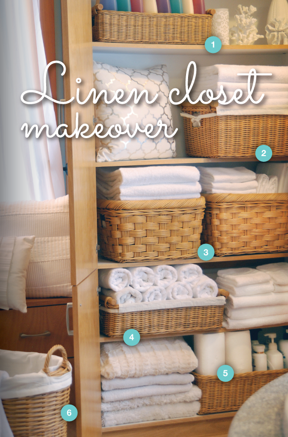 Linen Closet Makeover From The Basket Lady