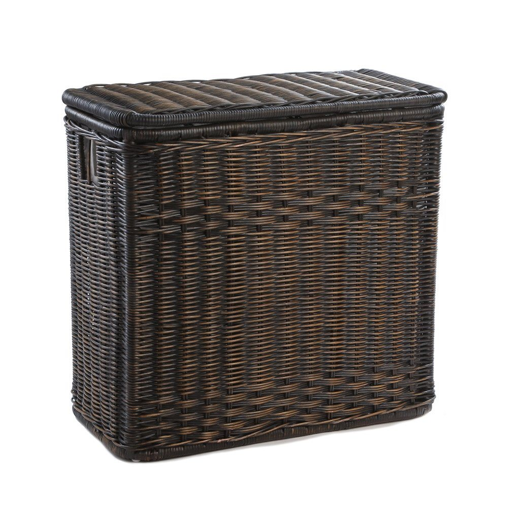 Fantastic 3-Compartment Wicker Laundry Hamper - The Basket Lady RZ21