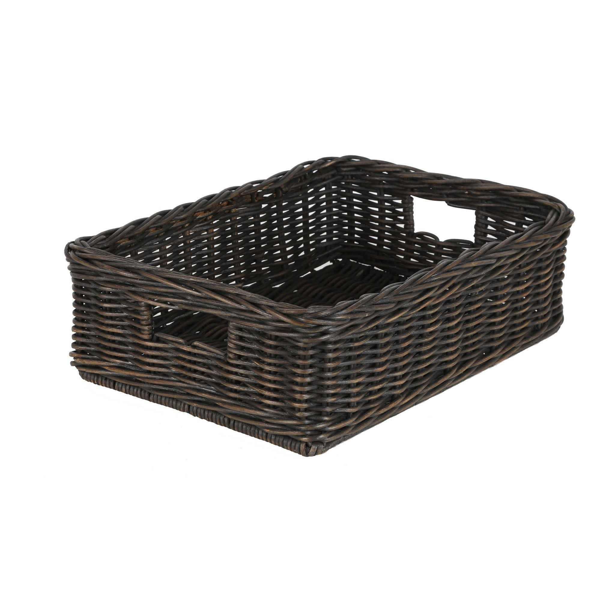 Home underbed storage baskets wicker underbed storage basket -  The Basket Lady Basic Wicker Storage Basket