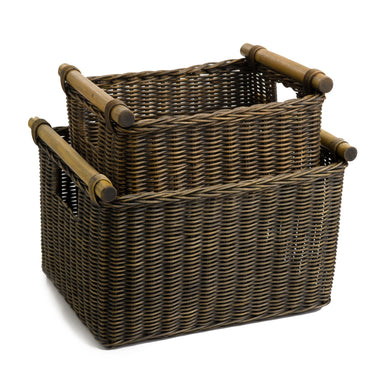 The Basket Lady Deep Wicker DVD Or Paper Basket