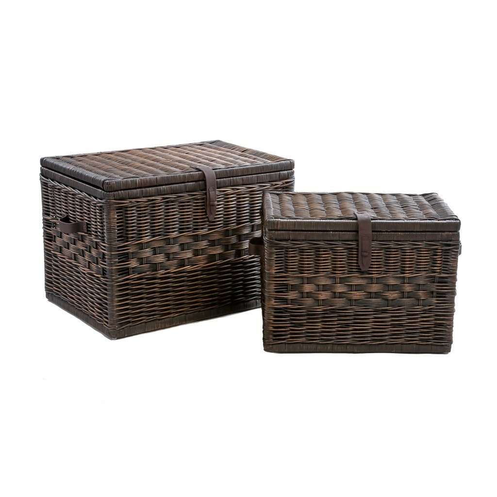 Deep Wicker Storage Trunk