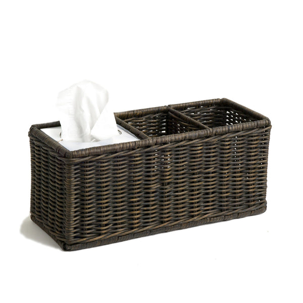 Wicker Divided Organization Basket The Basket Lady