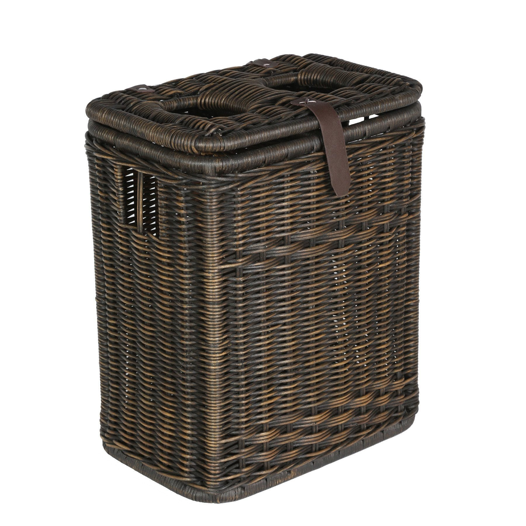 Wicker waste recycling cans baskets and bins the basket lady - Divided wicker basket ...