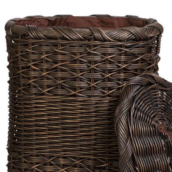 Fabric Liner For Oval Wicker Laundry Hamper The Basket Lady