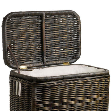 the basket lady fabric liner for narrow rectangular wicker laundry hamper