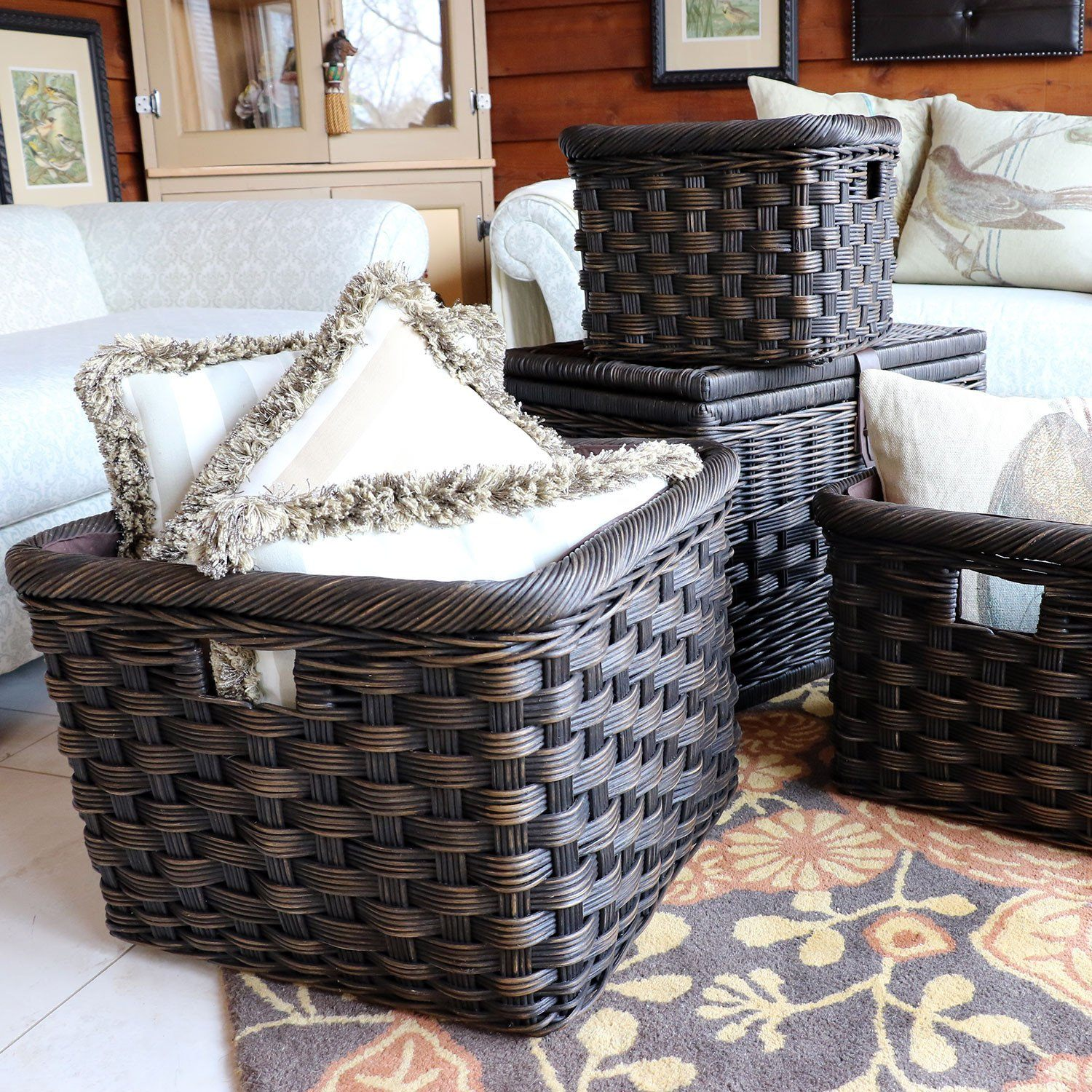 Wicker Kitchen Cabinet Basket
