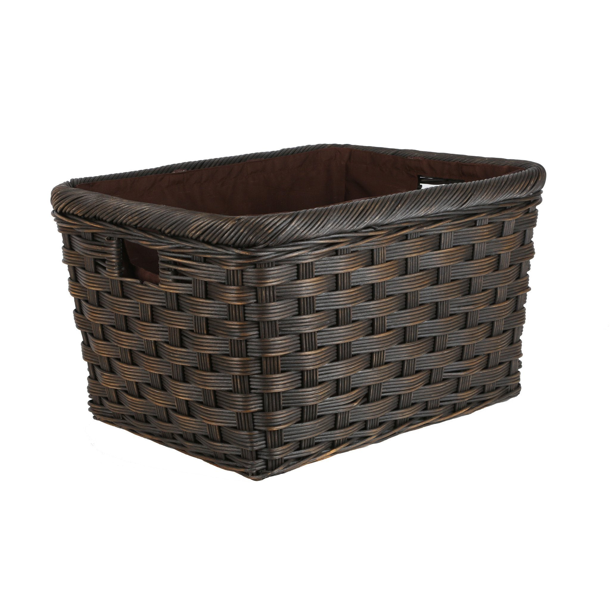 Attirant ... Jumbo Wicker Storage Basket In Antique Walnut Brown Size L From The  Basket Lady ...