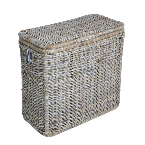 Fabric liner deep pole handle basket the basket lady for Wicker meaning