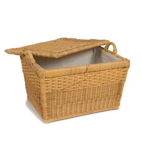 Fabric Liner For Lift Off Lid Wicker Storage Basket