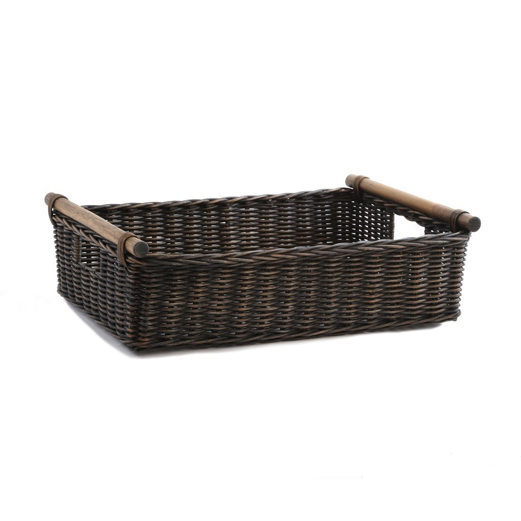 Low Pole Handle Wicker Storage Basket | The Basket Lady