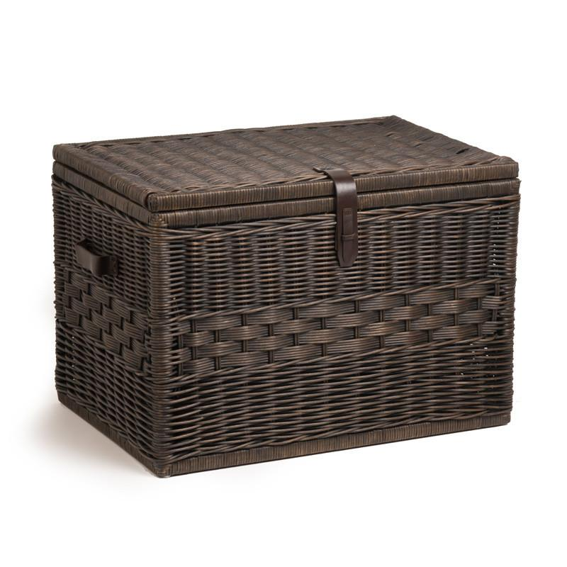 Attrayant ... Storage Trunk · The Basket Lady Mega U0026 Jumbo Trunk Antique Walnut Brown  Nested Set Of 2 ...