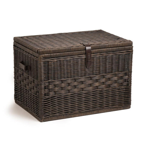 The Basket Lady Mega u0026 Jumbo Trunk Antique Walnut Brown Nested set ...