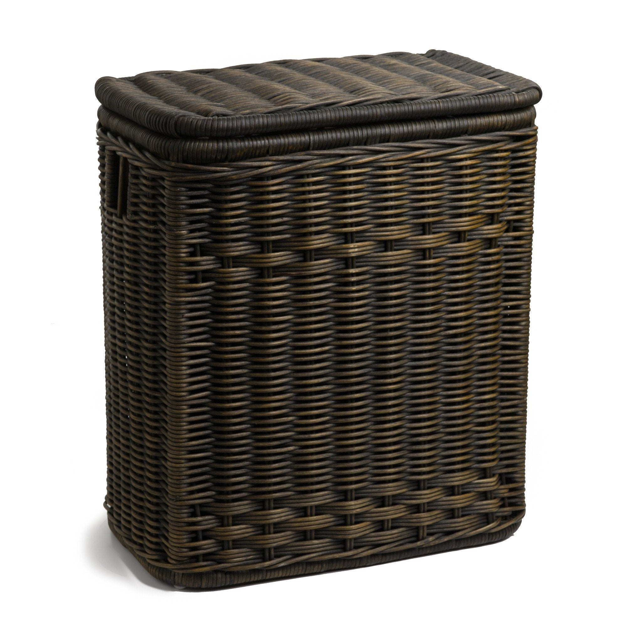 Round wicker laundry hamper clothes hamper the basket lady - Rattan laundry basket with lid ...
