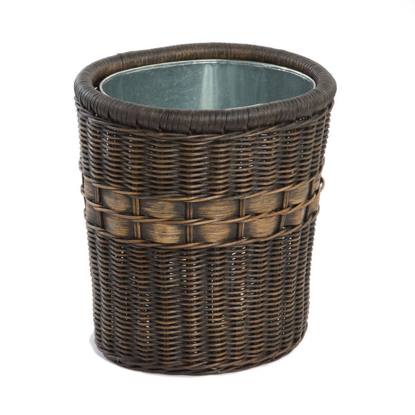 Oval wicker waste basket the basket lady - Wicker trash basket ...