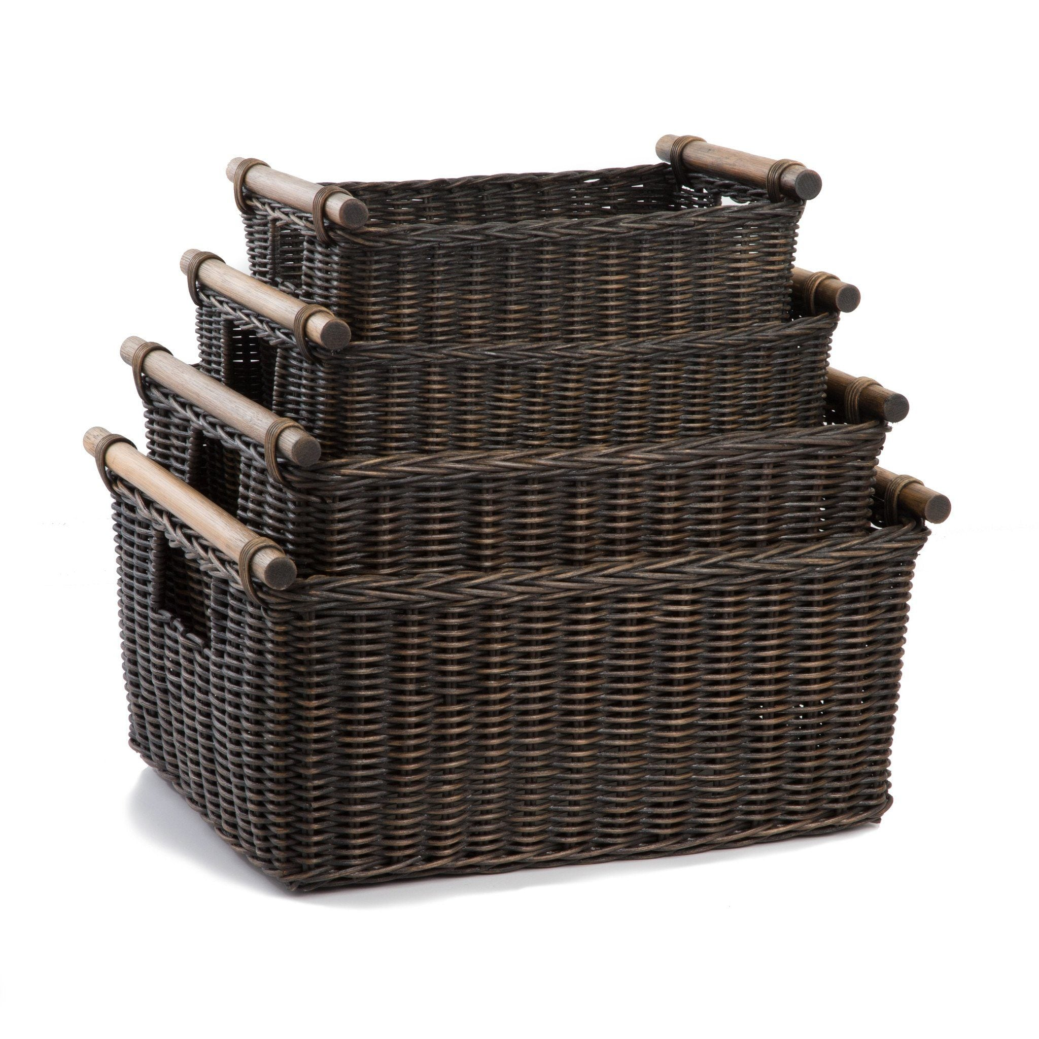 Wicker Storage Baskets for Shelves & Closets - The Basket Lady