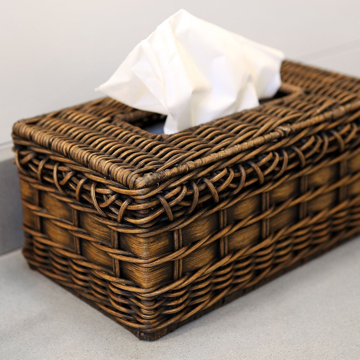 Rectangular Wicker Tissue Box Cover | The Basket Lady