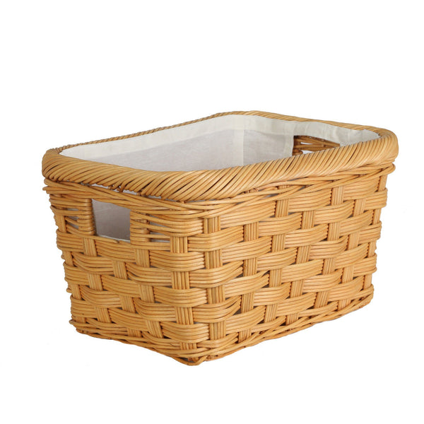 rectangular wicker storage basket the basket lady