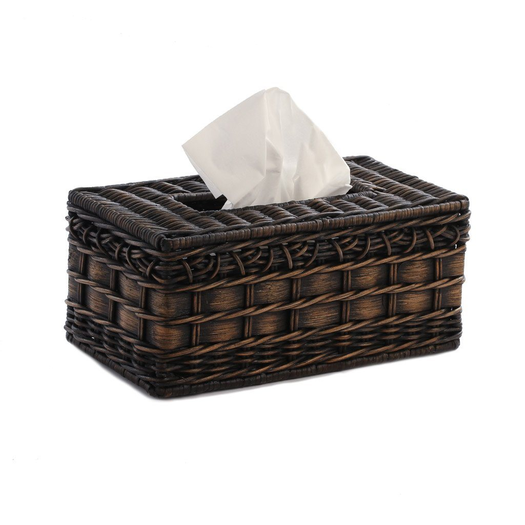 rectangular wicker tissue box cover the basket lady kleenex