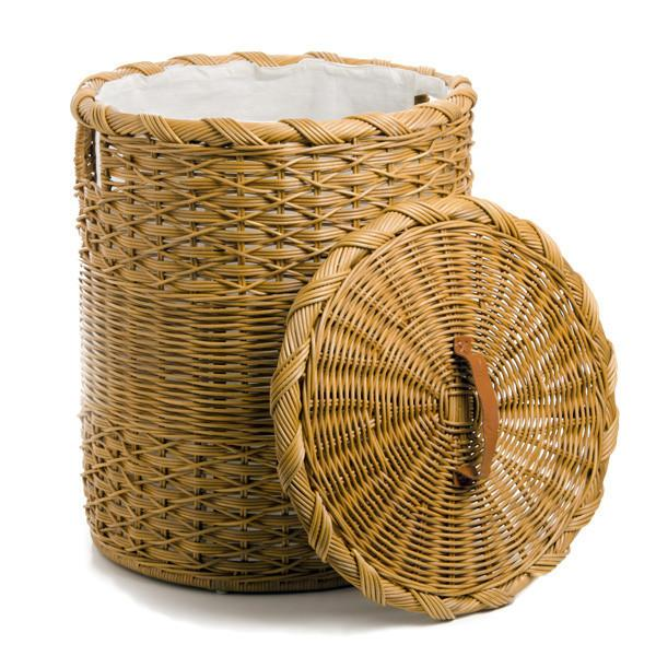 Download image Round Wicker Laundry Basket With Lid PC, Android
