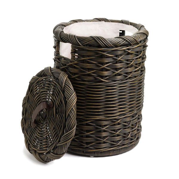 Small Round Wicker Laundry Hamper Amp Basket The Basket Lady