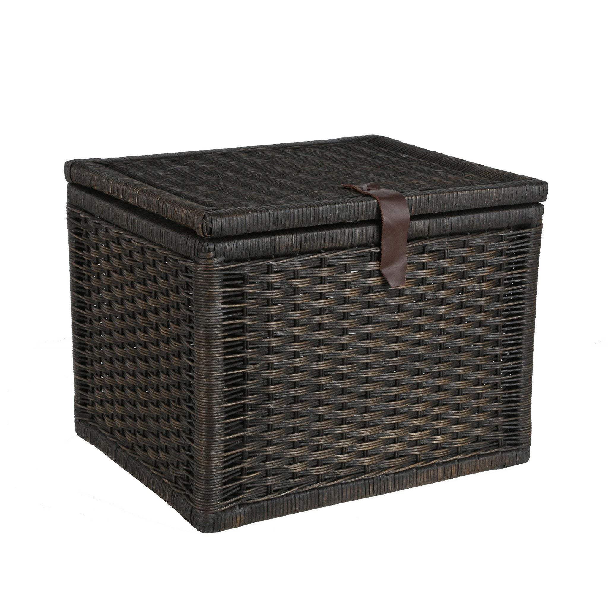 ... Small Wicker Storage Trunk in Antique Walnut Brown from The Basket Lady