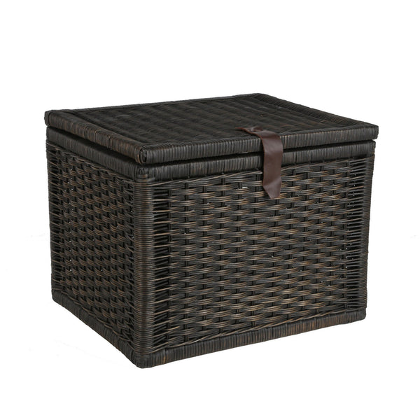 Auto Antique Wicker Trunks : Small wicker storage trunk chest the