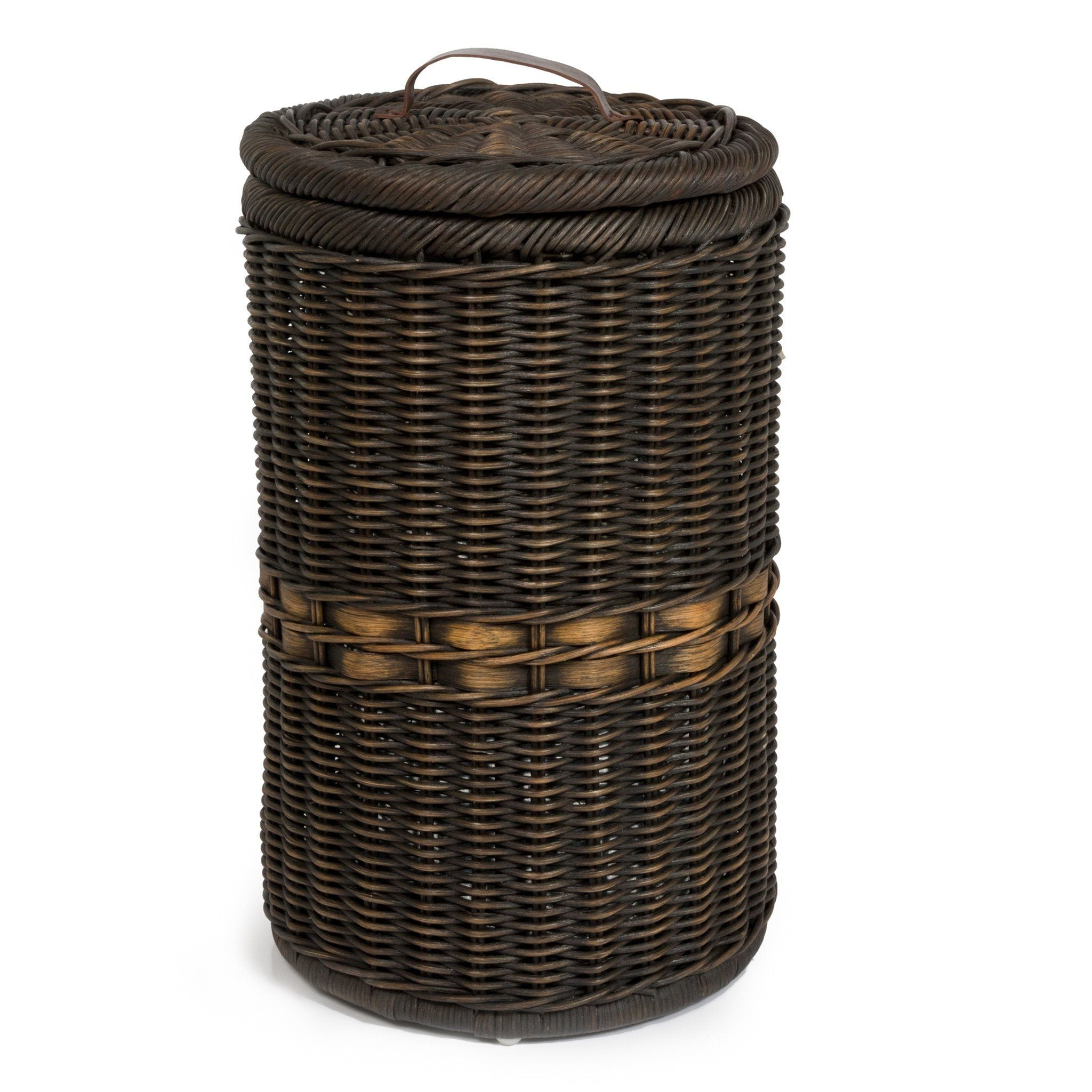 Tall wicker waste basket with metal liner the basket lady - Wicker trash basket ...