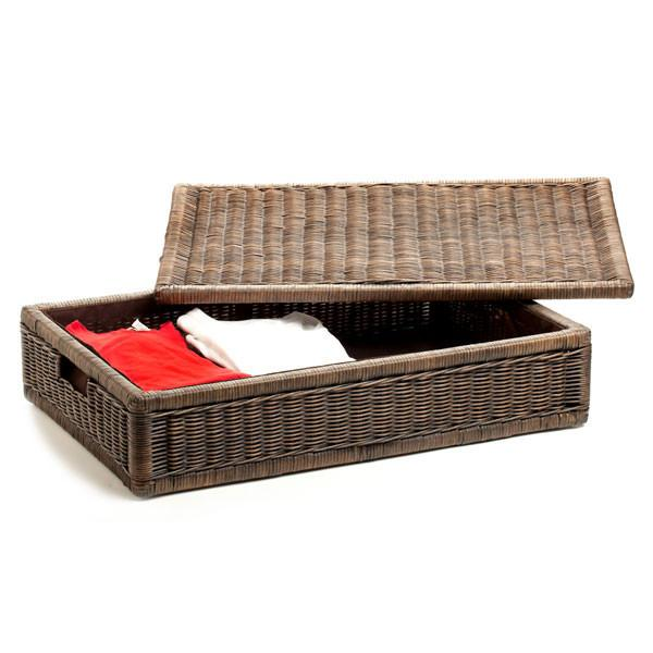 The Basket Lady Underbed Wicker Storage Box Large (size 1)