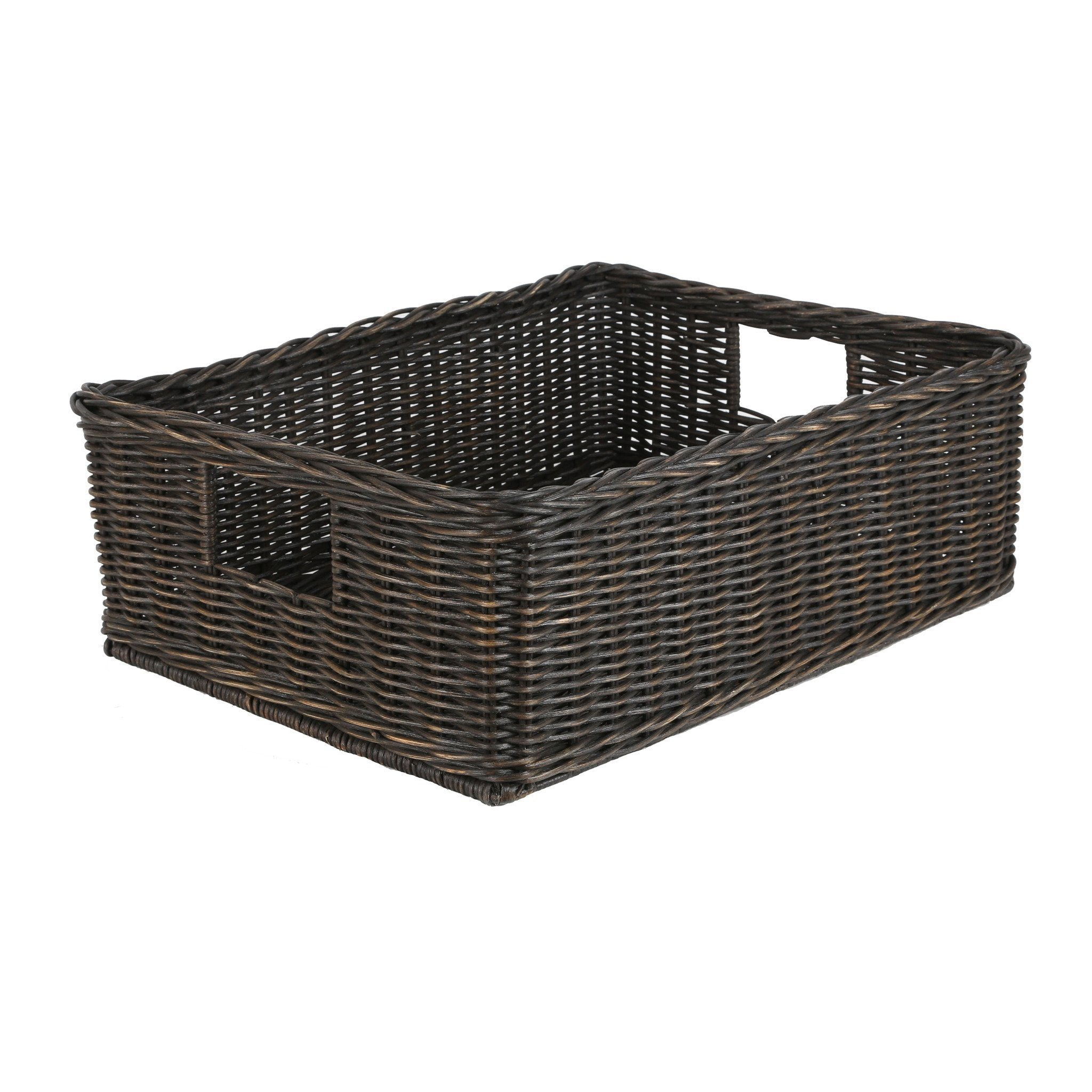 Delicieux ... The Basket Lady Underbed Wicker Storage Basket In Antique Walnut Brown  Size L From The Basket ...