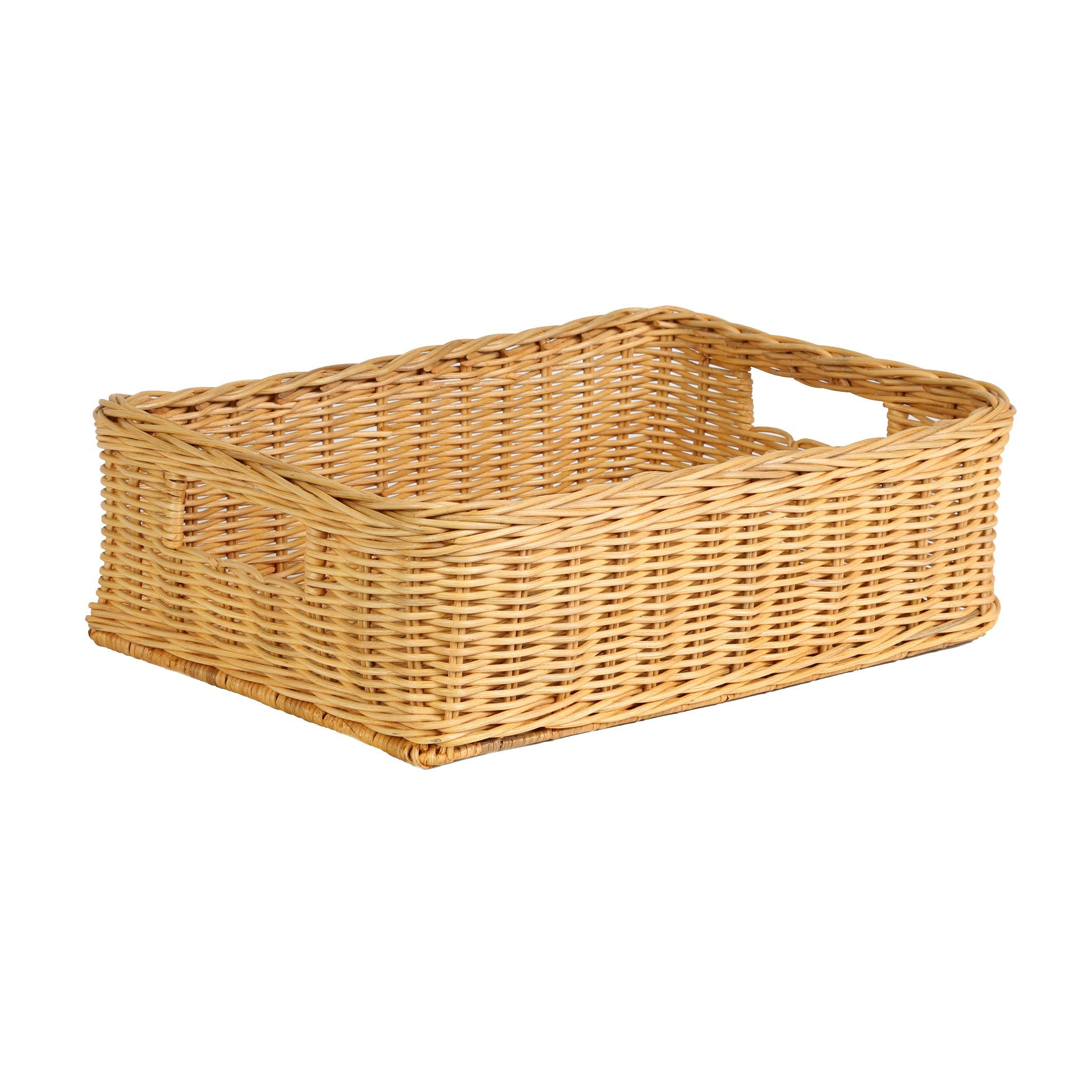 Home underbed storage baskets wicker underbed storage basket -  The Basket Lady Underbed Wicker Storage Basket In Toasted Oat Size M From The Basket Lady