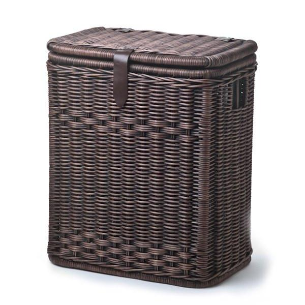 Wicker Divided Recycling Basket 000506 0 01