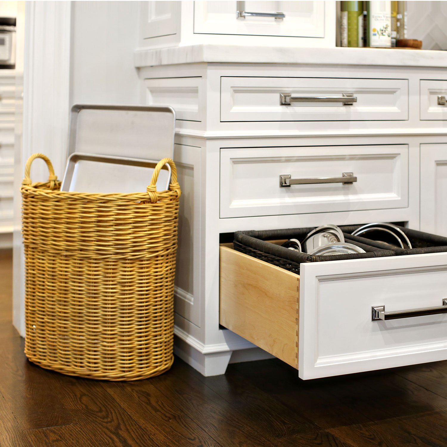 Wicker Kitchen Cabinet Basket The Basket Lady