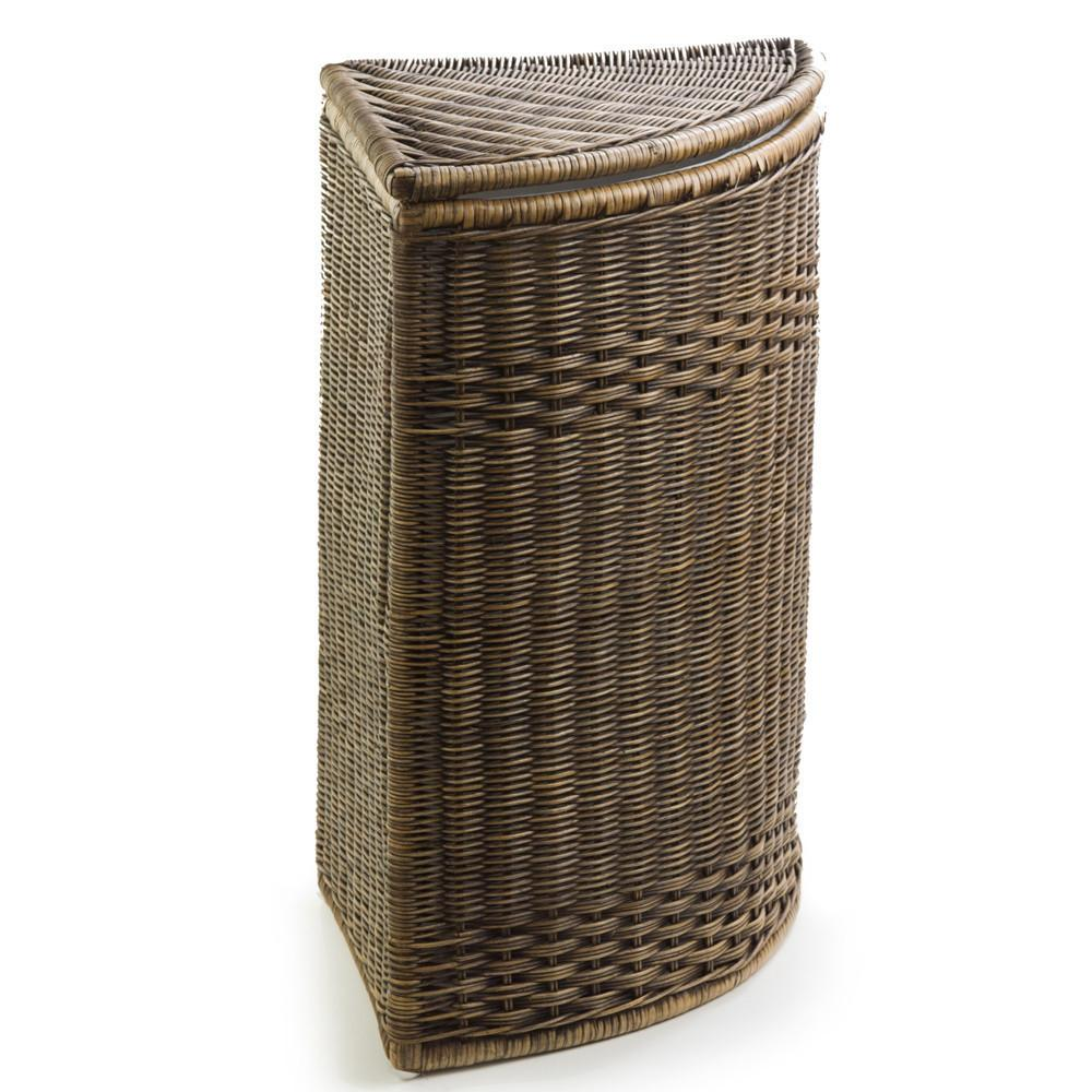 Fabric liner for french laundry basket the basket lady - Corner hamper with lid ...