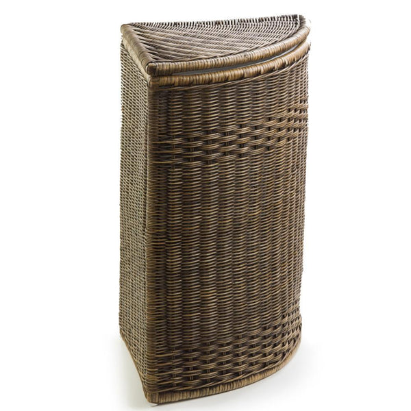 Round wicker laundry hamper clothes hamper the basket lady - Whites and darks laundry basket ...