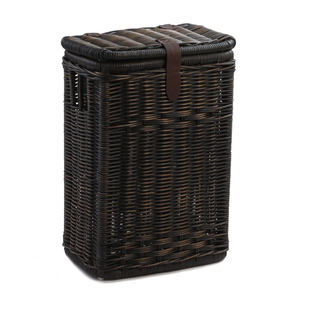 Wicker Kitchen Waste Basket with Metal Liner - The Basket Lady