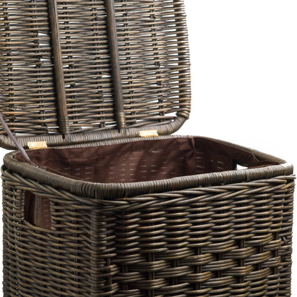 Fabric liner for narrow rectangular wicker laundry hamper the basket lady - Narrow clothes hamper ...