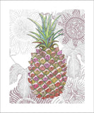 pineapple glace art print by Judith M Boyes