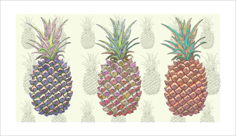 pineapple pen & ink art print by Judith M Boyes