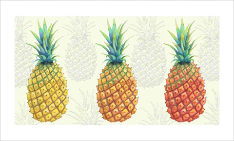 pineapple trio art print by Judith M Boyes