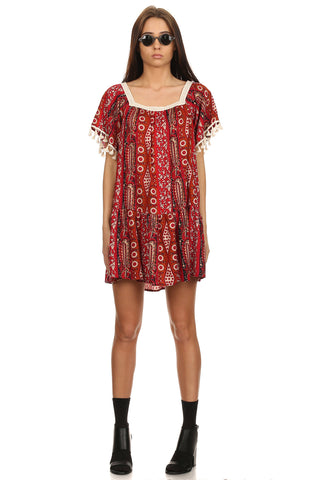Boho Peasant Dress-1