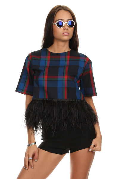 Feather Plaid Tee-7