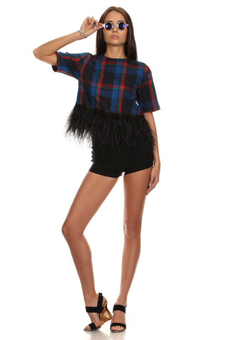 Feather Plaid Tee-5