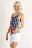 Rustic Stars & Stripes Racerback Tank Top-2