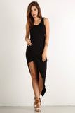 Asymmetrical Hi Lo Side Slit Glamour Dress-3